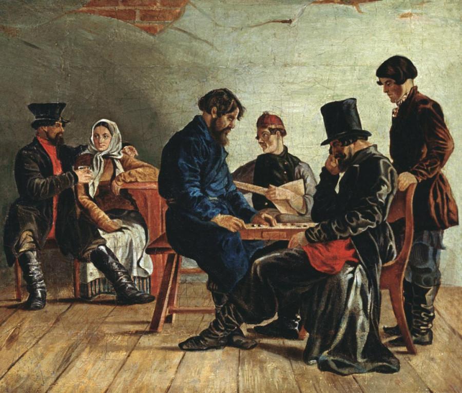 Щедровский Игра в шашки 1830-е
