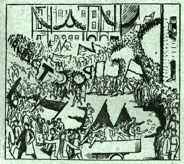 Лозунг масс Смена 1929 №9