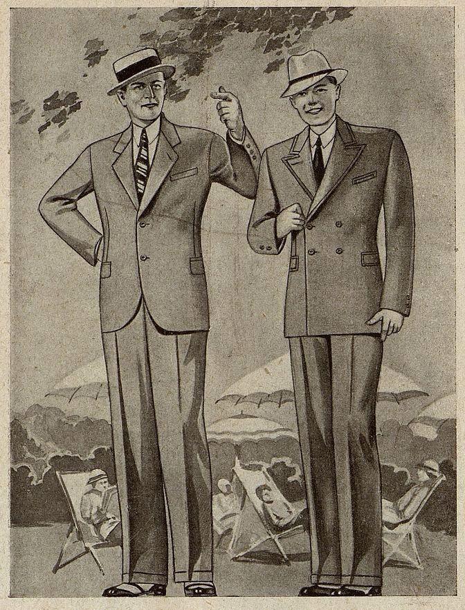 Мужской костюм Москвошвей 1935 год 1