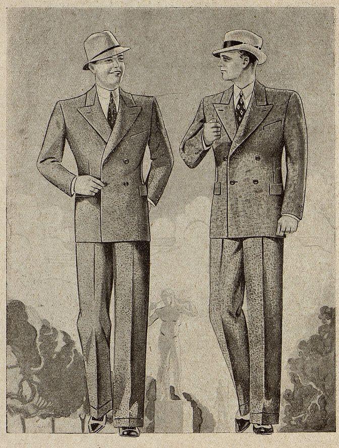 Мужской костюм Москвошвей 1935 год 2