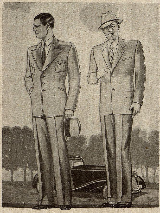 Мужской костюм Москвошвей 1935 год 3