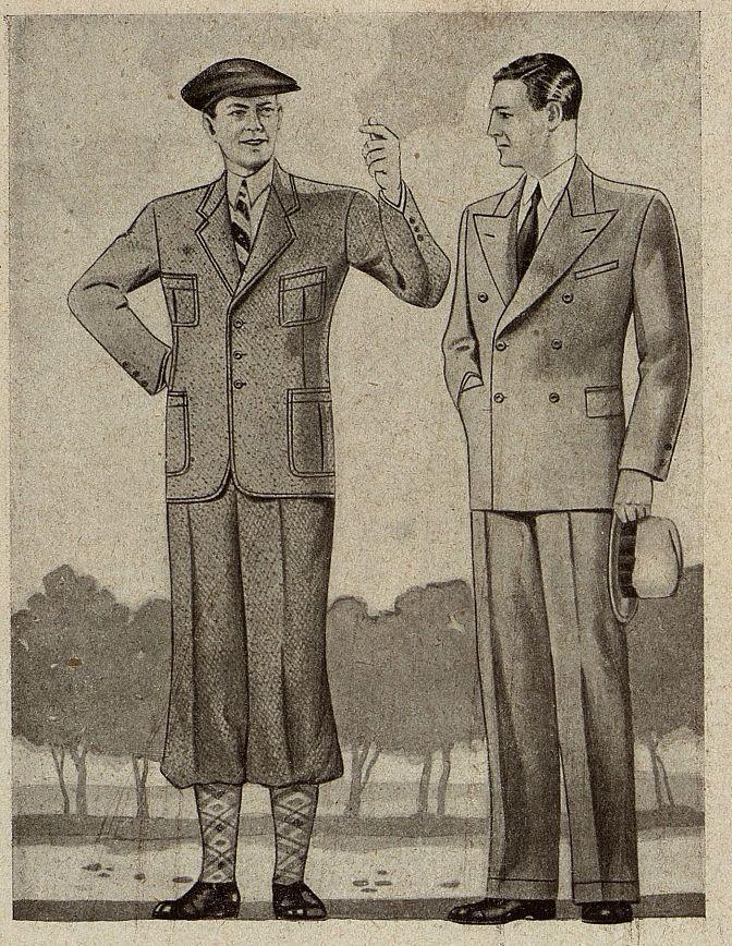 Мужской костюм Москвошвей 1935 год 5