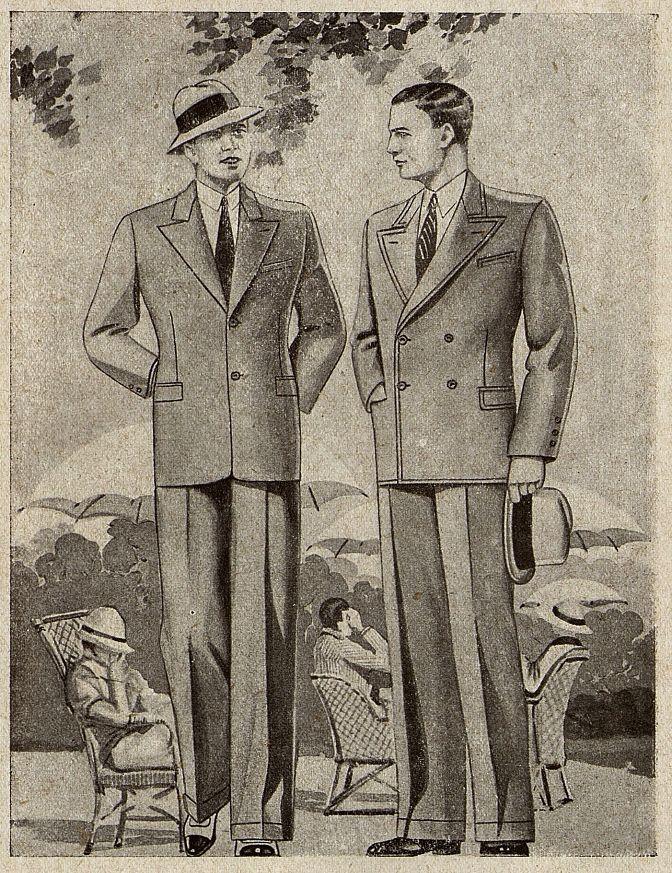 Мужской костюм Москвошвей 1935 год 6