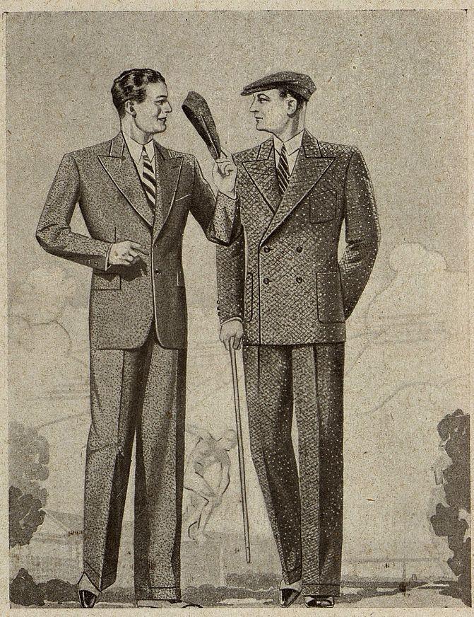 Мужской костюм Москвошвей 1935 год 7
