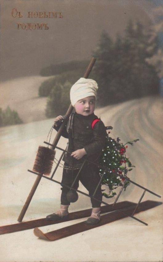 Новогодняя дореволюционная открытка 10