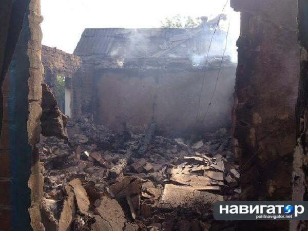 Разрушения в Славянске