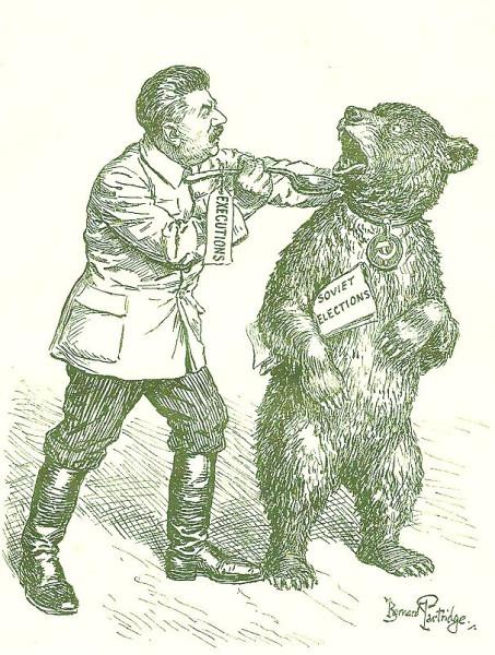 Московская чистка карикатура 1937 год