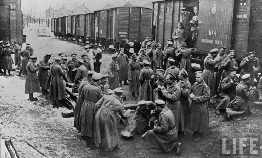 Солдатский обед 1915 год