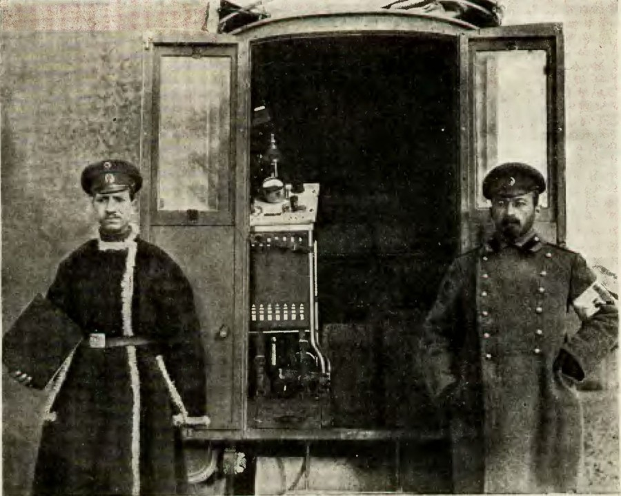 Рентгеновская станция на автомобиле. Внутренний вид Нива 1915 №18