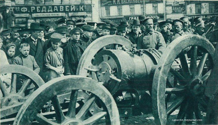 Трофейная  австрийская мортира Москва 1915 год