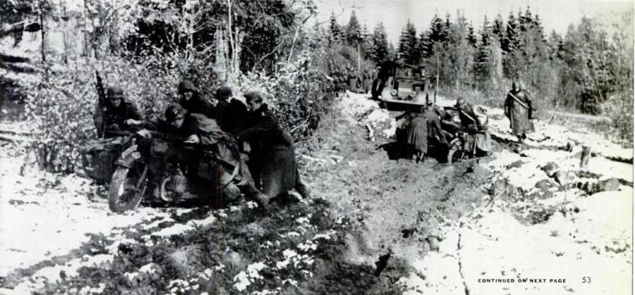 На южном участке советско-германского фронта декабрь 1941 год