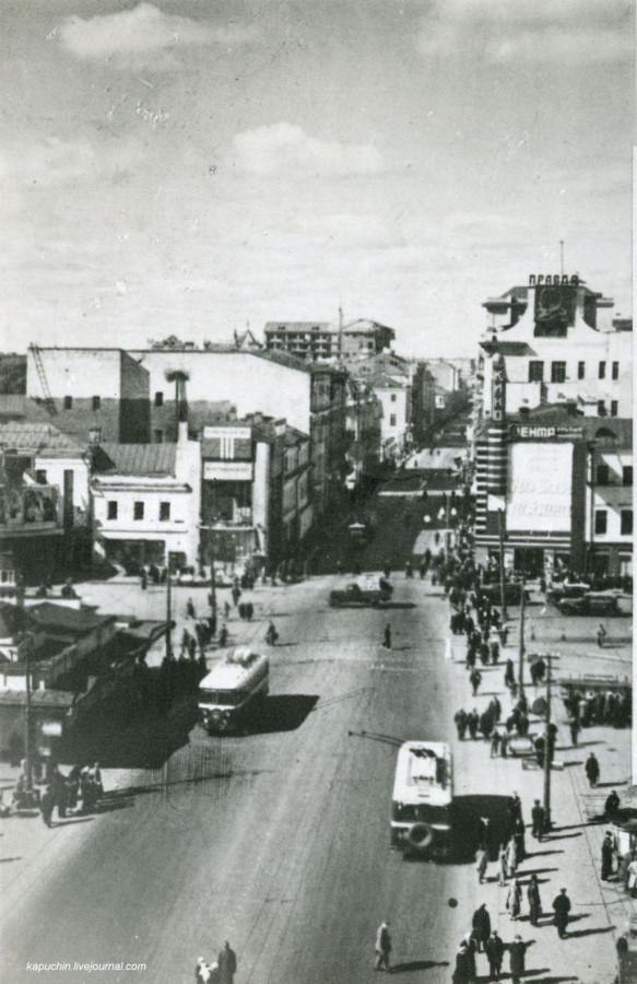 Улица Горького Пушкинская площадь