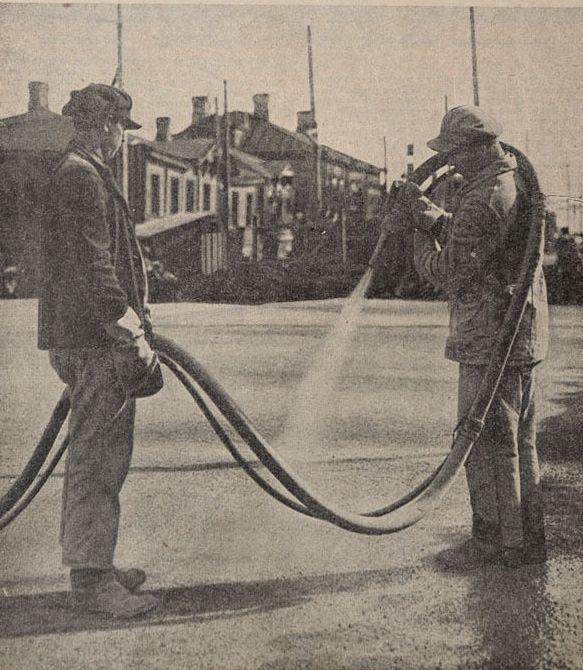 Ленинград На строительстве Шлиссельбургского(Архангелогородского) моста 1929 год