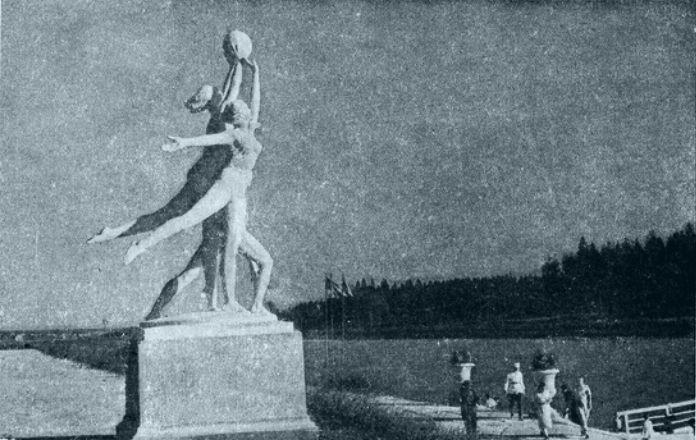 Скульптурная группа Спорт Оревский район
