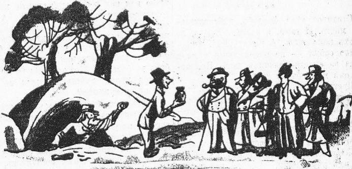 Пещерные люди карикатура 1935 год