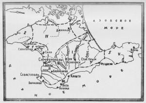 КРЫМ. карта рек и озер