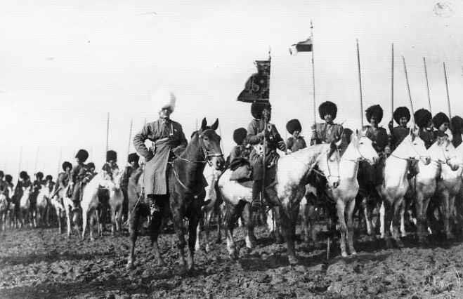 Туркменская конная милиция - аналог казаков.