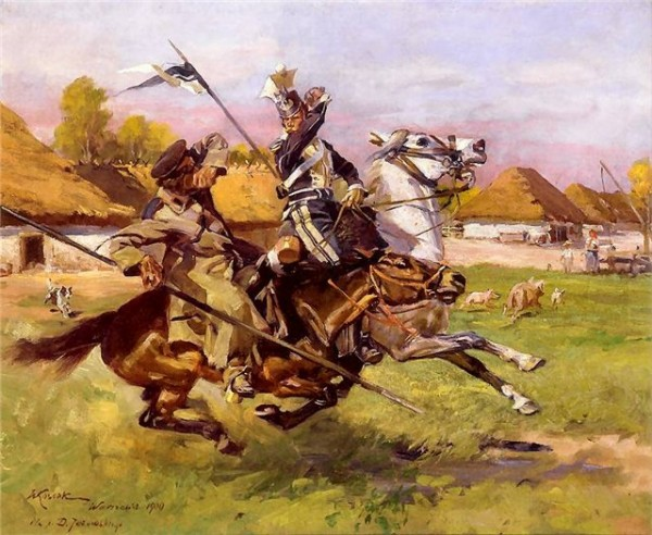 Улан рубит казака