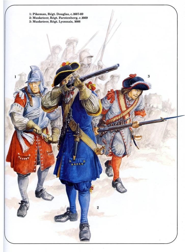 Солдаты - мушкетёры французской армии.