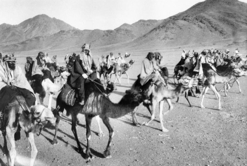 Кавалерия бедуинов на верблюдах
