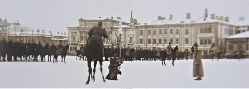 Вручение штандарта Прибалтийскому полку. Зима 1916 год.