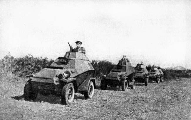 Бронеавтомобили придаваемые кавалерии.