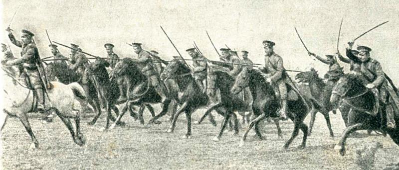 Русская кавалерия в атаке.