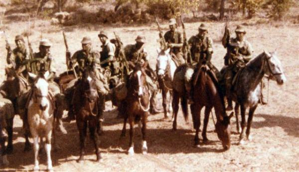 Родезия кавалерийский эскадрон