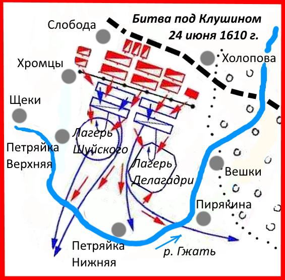 Общий план сражения.
