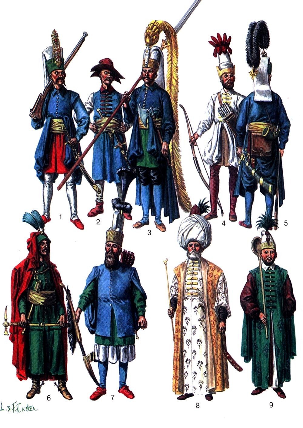 Османская армия начала 18 века.