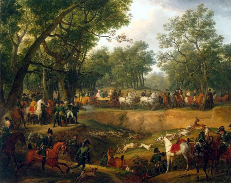 Наполеон на охоте в Компьенском лесу