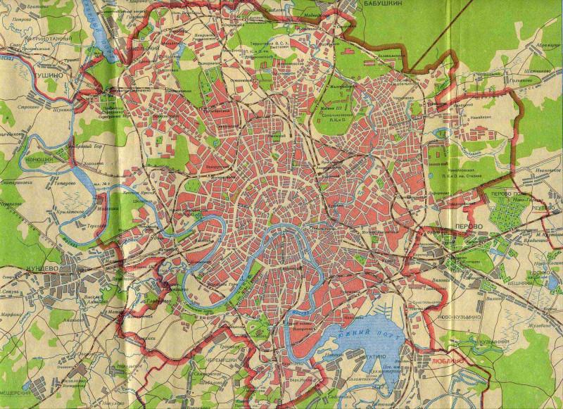 Это карта Москвы 1939 года
