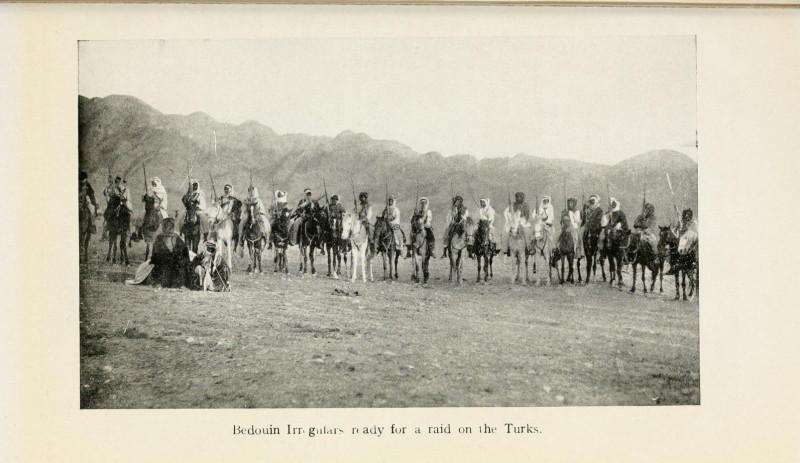 Бедуинское ополчение в рейде против турецких войск
