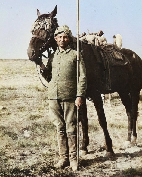 Османский кавалерист Беер Шева Палестина