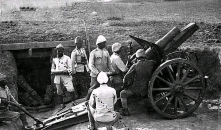 Османская артиллерия в Палестине