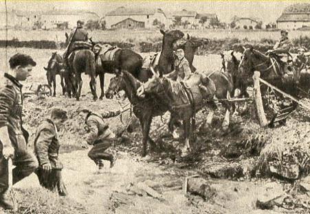 Кавалерия вермахта на трудном участке