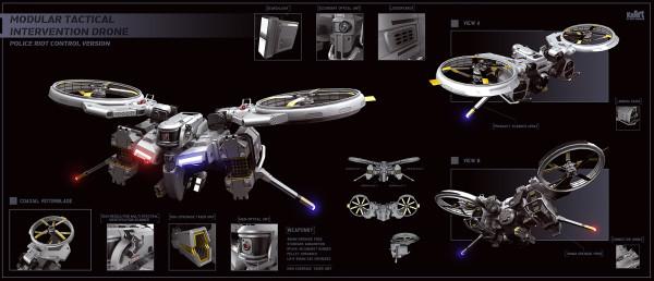 4) Riot Control Drone
