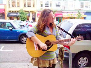 Girl singer on Castro Street.