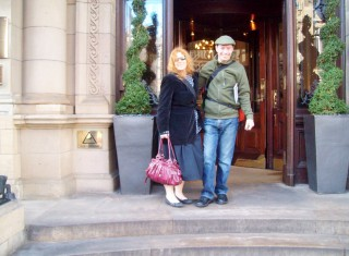 Kgal and Hubby at Balmoral hotel