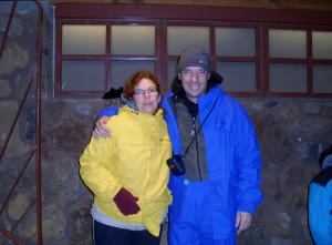 Me & Hubby-Freezing at the top of Mt. Haleakala