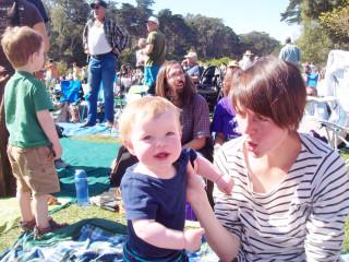 Oliver and mommy enjoying Hardly Strictly