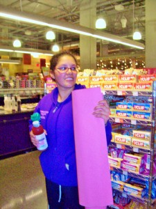 Pink mat at Whole Foods