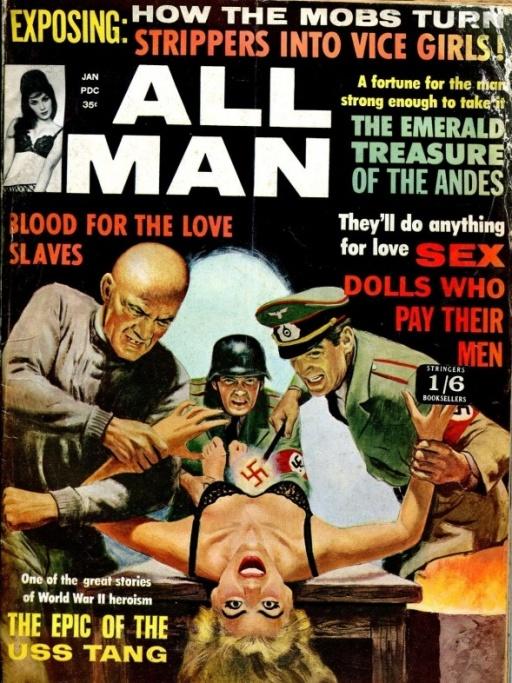Красотки на обложках. Часть 31. Зверства фашистских оккупантов, злодеяния японских милитаристов и пр