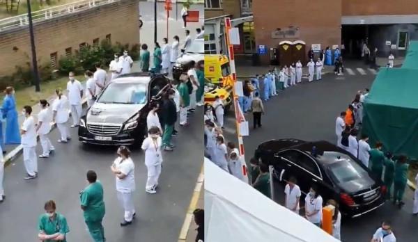 В Бельгии врачи образовали «коридор стыда» премьер-министру страны