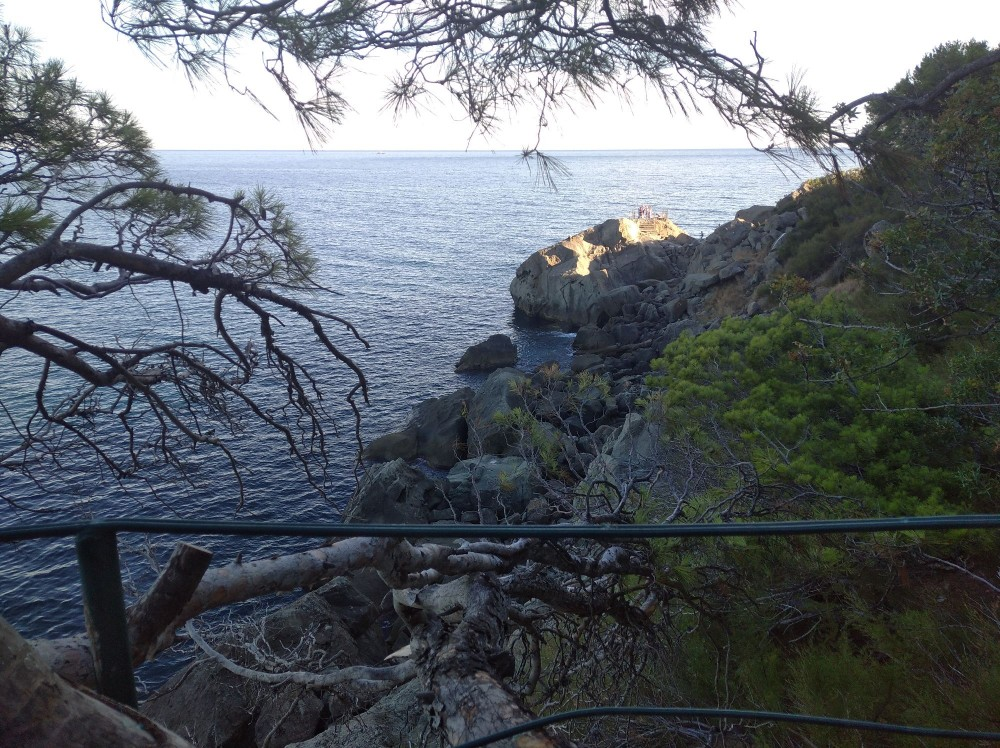 Вид с секретной лавочки на скалу Айвазовского