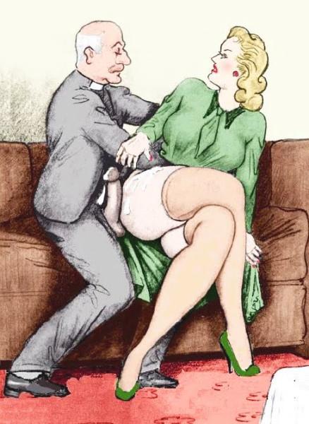 Старинные порнографические рисунки и открытки