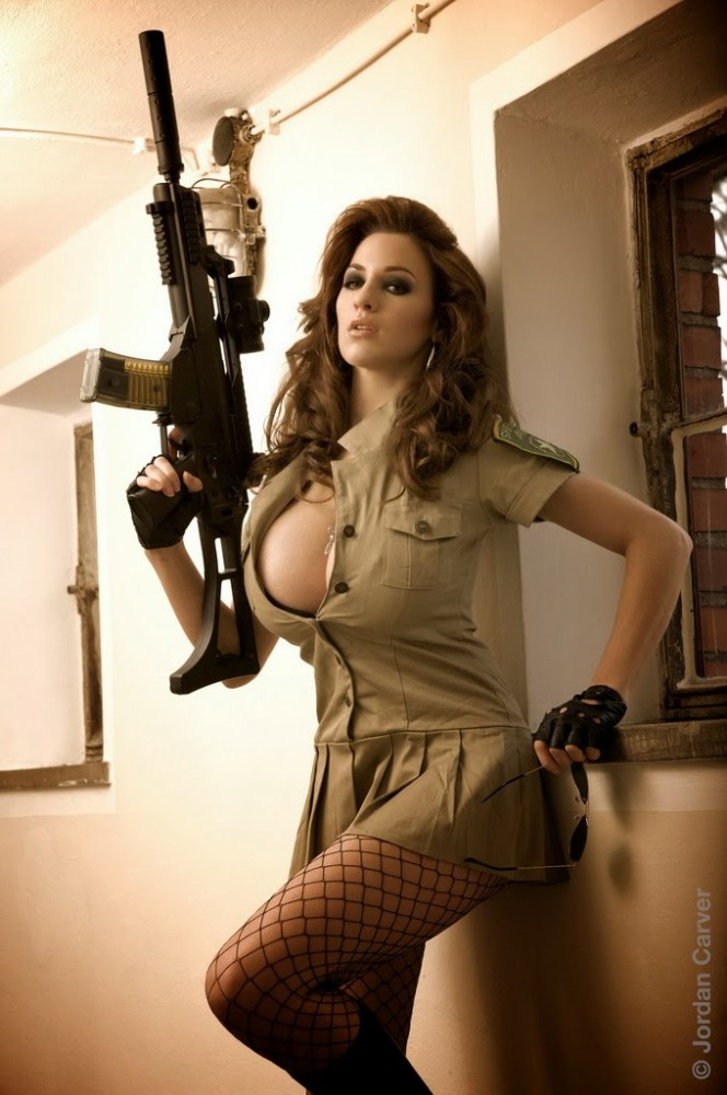 Military women with big tits, holly madison tube socks