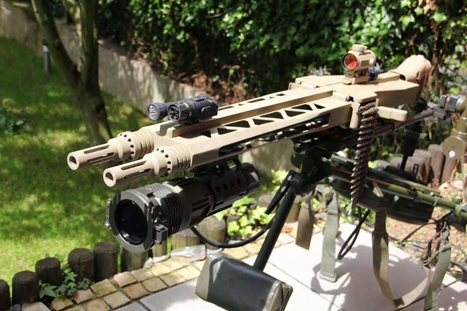 German Ww2 Machine Guns MG-14Z - a twin barrel...