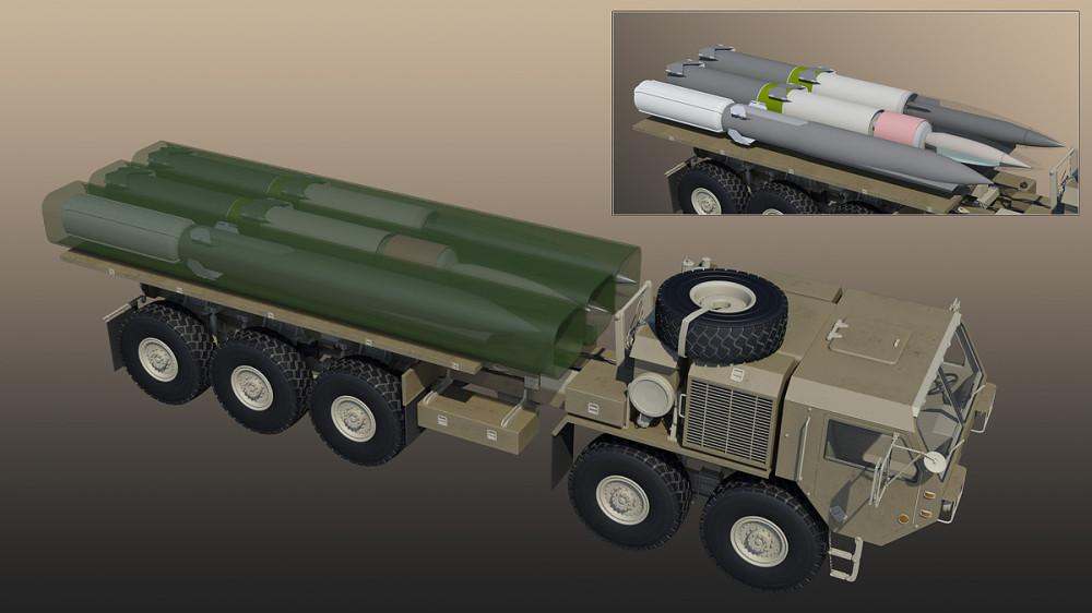 Пусковая Long range hypersonic weapon на шасси Oshkosh