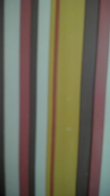 really ugly striped wallpaper